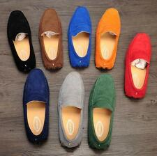 Mens spring slip on driving comfort suede shoes loafer moccasin gominno 7-11size