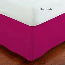 """800-TC Hot Pink Solid 1-PC Bed Skirt 100% Cotton 8""""-24"""" Drop Choose Bedding Size"""