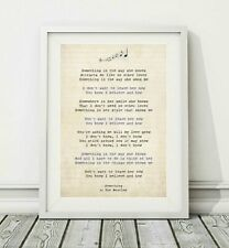 152 The Beatles - Something - Song Lyric Art Poster Print - Sizes A4 A3