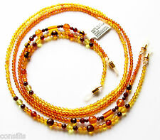 Natural Baltic amber chain for glasses / glasses chain from Baltic amber beads