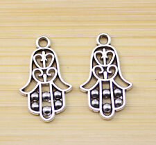 30/60/100 pcs wholesale:Very cute Tibet silver hand charm pendant 22x14 mm