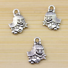 30/60/100pcs wholesale:beautiful lovely Tibet silver Little angel charm pendant