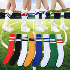New multicolor stripes football plain socks rugby hockey  knee high Sports socks