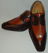 Antonio Cerrelli 6607 Mens Most Elegant Brown Rust Spectator Fashion Dress Shoes
