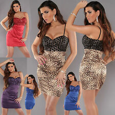 Sexy Women Clubbing Cocktail Mini Dress Ladies Party Top Size 6 8 10 12 Blouse S