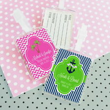 Personalized Acrylic Themed Luggage Tag Destination Wedding Favors 96-150-200