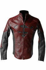 SUPERMAN MAN OF STEEL SMALLVILLE BLACK AND RED LEATHER SHIELD JACKET