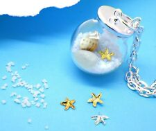 six variations SEA SHELLS & STAR FISH gold silver small miniature charms tiny