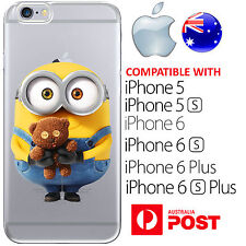iPhone Case Cover Silicone Despicable Me Cute Minion Bob Teddy Shy Yellow Disney