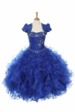 New Glitz Pageant National Girl Party Dress Bolero R.Blue 3 4 5 6 7 8 10 12 1416
