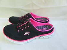 New! Womens Skechers Active Glider Memory Foam Casual Shoes 22700 BlackPink 38T