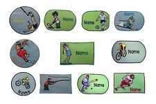 Outdoor Sport Sew on/Iron on/Sticker Personalised embroidered name badge patch