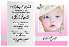 OUTSTANDING PERSONALISED CHRISTENING INVITATIONS / INVITES BOY OR GIRL OWN PHOTO