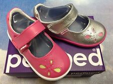 Pediped Grip 'n' Go Antoinette Leather Mary Janes Size 20,21/US Toddler Size 5-6