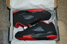 JORDAN RETRO 5 LOW BLACK GYM RED ALTERNATE 90 KIDS GS SZ 5Y-6.5Y  314338-001