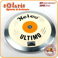 Nelco Ultimo White Super Spin Discus 83% Rim Weight Stainless Steel Rim