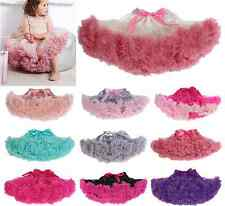 Cute Baby Girl Kid Chiffon Fluffy Tutu Dance Party Christmas Pettiskirt 0-10Y HQ