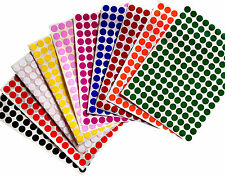 "Color Coding Labels 3/8"" Round 10 colors available 700 pack 0.375 10mm"
