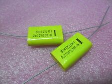 2pcs FILM METALIZED POLYESTER AXIAL CAPACITOR 2UF 2.2UF 200V 250V 10% 20%
