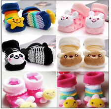 Baby Socks Anti Slip Newborn Shoes Animal Cartoon Slippers Boots Boy Girl Unisex