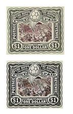 Discworld Stamp 2010 $1 Hippo Football Colour Variations Rare Retired Color