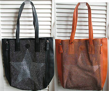 Ladies Handbag Black glitter Star Shoulder Bag bag