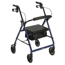 DRIVE Medical Senior Adult Rollator Rolling Walker Aid 300lbs ~ PICK COLOR