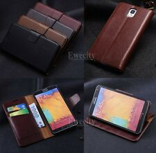 Flip Wallet Cow Leather Stand Case Cover For Samsung Galaxy Note III 3 N9000