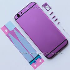 Purple + Black Lines Back Rear Housing Cover Middle Frame For iPhone 6/6s &Plus