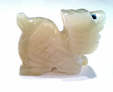 Pocket Spirit Animal Dragon Figurine Hand-carved in Green Onyx Natural Stone