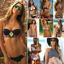 Womens Sexy Padded Push-up Bandage Bikini Swimwear Beach Swimsuit Bathing Suit