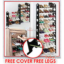 2016 Model 30 Pairs With Legs+ Cover 10 Tiers Stackable Storage Shoe Rack Holder