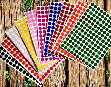 Color coded round circle Stickers 3/8 inch 10 colors available 10mm map dots