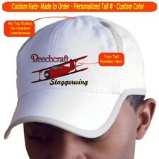 Beechcraft Staggerwing Cap Custom Airplane Pilot Hat - Personalized with Your N#