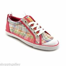 New in Box Coach Barrett Sneakers Flats Shoes Poppy Beach Plaid Silver A1050