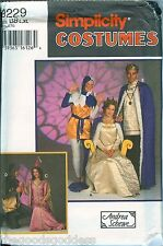 Simplicity 9229 Medieval Tunic Cape Misses Mens Teens costume pattern UNCUT FF