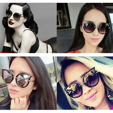 Retro Womens Mens Sunglasses Metal Frame Golden Leg Cat Eye Shades Eyeglasses OP