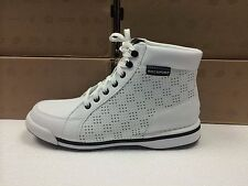NEW MENS ROCKPORT M7100 WHITE PERFORATED BOOTS-SIZE 8