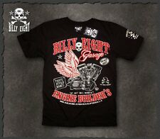 "Mens-rockabilly-greaser-psychobilly-biker-punk-Billy Eight ""Garage Builder"" T"