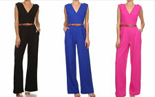 Sexy Womens sleeveless V neck Bandage Bodycon Jumpsuit Romper Trousers Clubwear