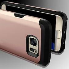 Heavy Duty Rubber Back Hard Case Cover Skin for Samsung Galaxy S6 S7 Edge/Plus+