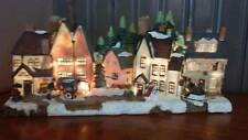 47cm Wide Light Up Christmas Village Scene Read Full Description