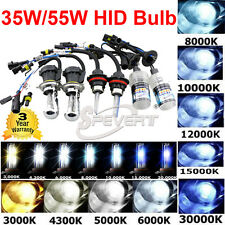 2PCS 35W/55W HID Xenon Replacement Bulbs H1 H3 H7 880 HB4 H8 Bi-xenon H4-3 9004