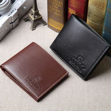 Wallet slim mens leather credit card holder NEW business ID Black money clip