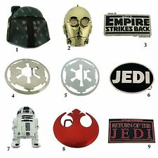 Star Wars Belt Buckle Usa American Logo Rock Rebel George Lucas Metal Silver New