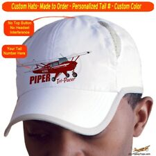 Piper Tri-Pacer Cap Custom Airplane Pilot Hat - Personalized with Your N#