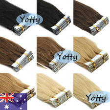 16''18''20''22''Remy Human Hair Extensions Tape in Skin Weft Hair AAAAAA AUStock