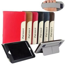 For Apple iPad Leather Stand Case Card Slots Note Holder Hand Strap Cover New