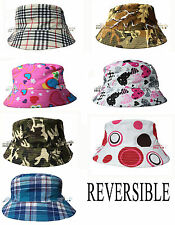 Kids Boy Girl Reversible Sun Summer Hat Bucket Hat Beach Hat Fashion Hat Cap