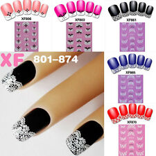 Diy French Transfer Lace Design Nail Art Stickers Manicure Nail Polish Decals
